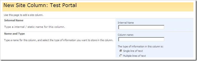 Create new column with the internal name